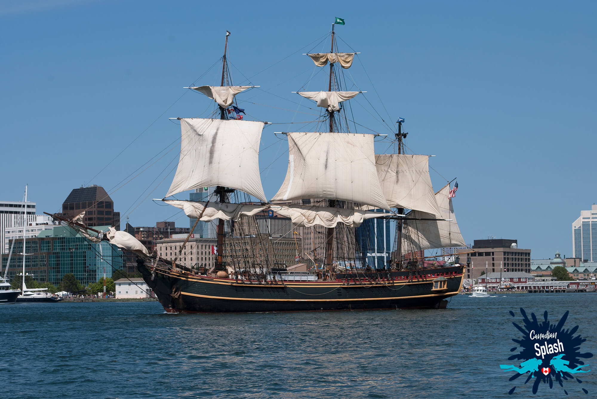 The Halifax Tall Ship Festival On The Water, Nova Scotia, Canadian Splash Scuba Diving