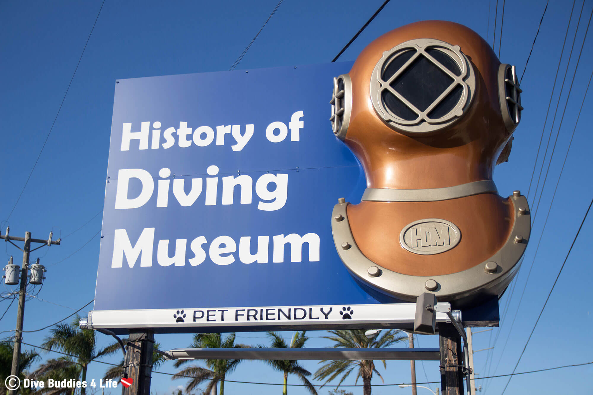 The History Of Diving Museum Entrance Sign On Islamorada, Florida Keys