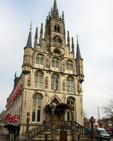 The Main Gouda Church In The Centre Of The City
