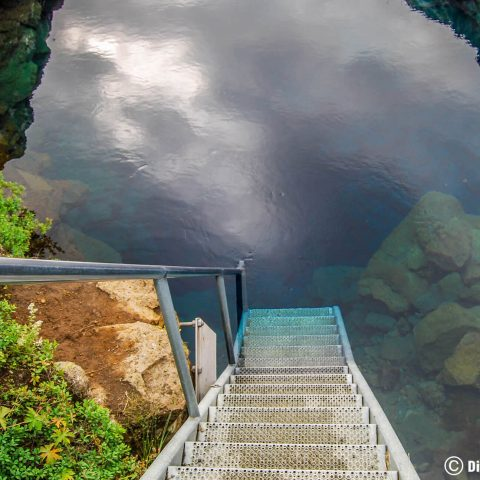 The Metal Stairs Into The Silfra Fissure, Iceland