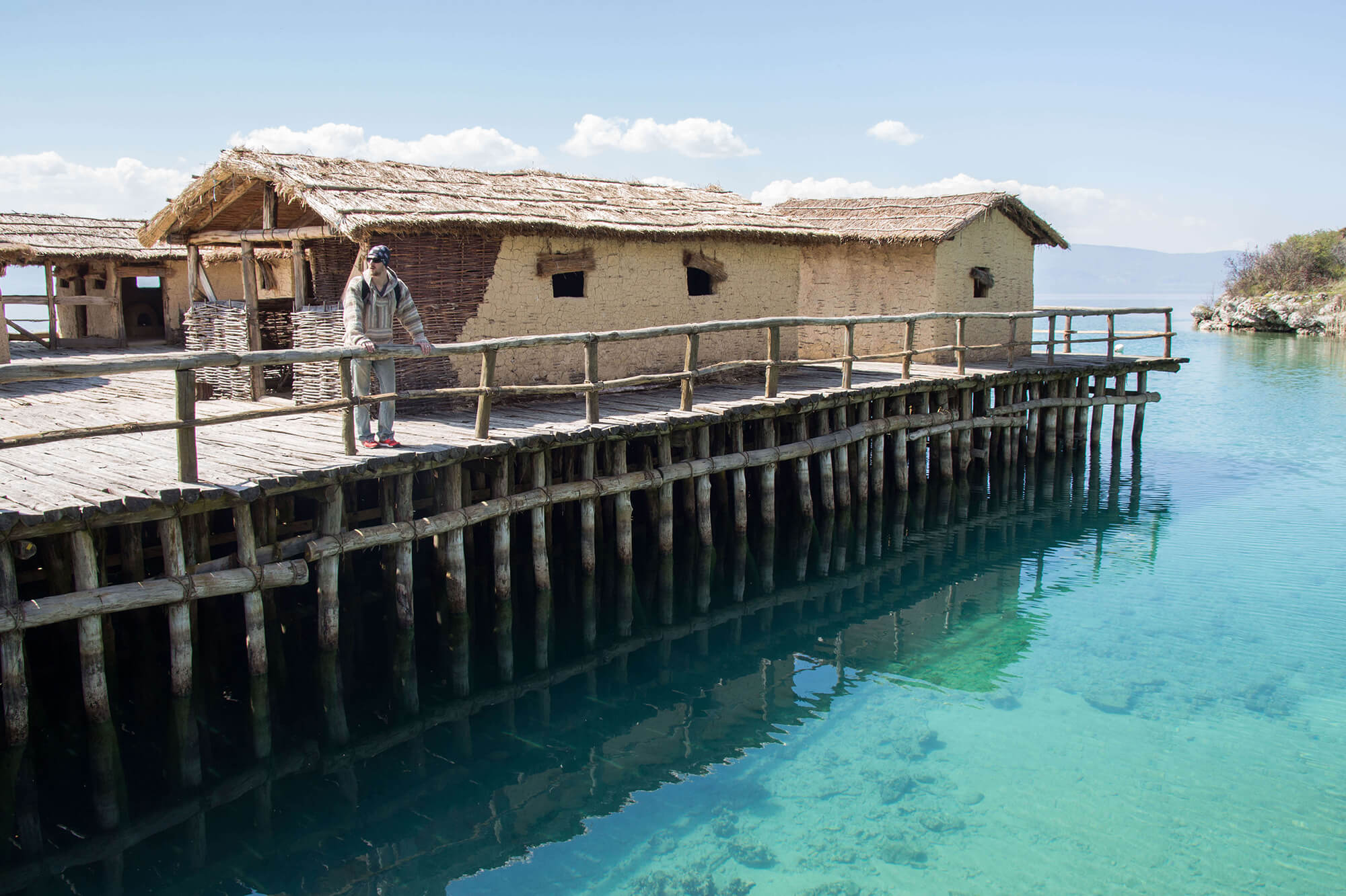 The Museum On The Crystal Clear Water Of Lake Ohrid, Macadonia