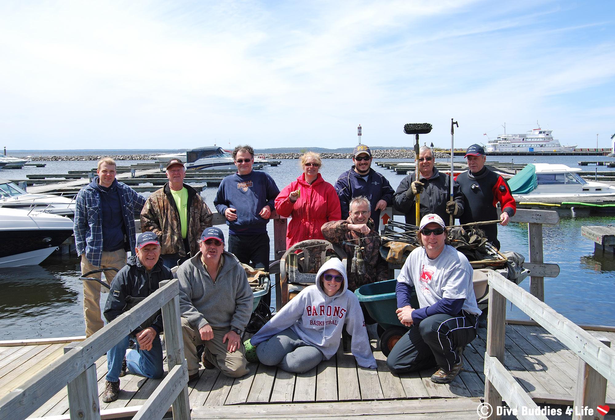 The North Bay Scuba Club Dive Clean Up