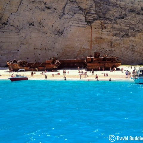 The Old Shipwreck On Navigo Beach, Zakynthos Island, Greece