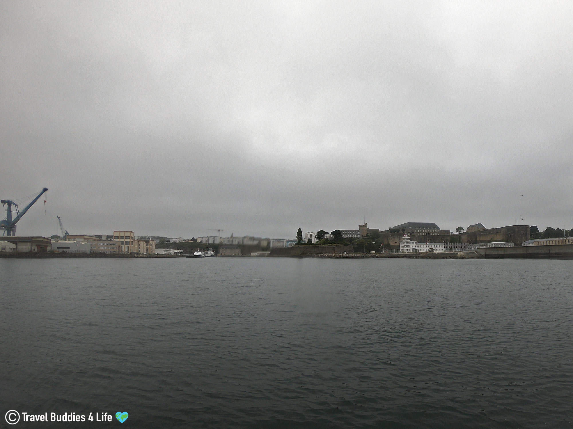 The Port City Of Brest, France View From On The Scuba Boat, Diving Europe