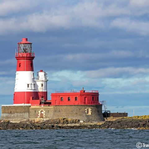 The Red And White Of The Farne Island Lighthouse, Scuba Diving In England, UK