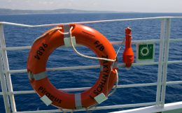 The Ring Buoy On The Zakynthos Ferry