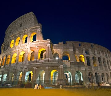 The Roman Colosseum World Wonder Monument, Rome, Italy