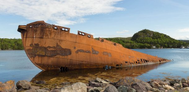 The SS Charcot Whaling Ship In Conception Harbour Newfoundland Scuba Diving Site