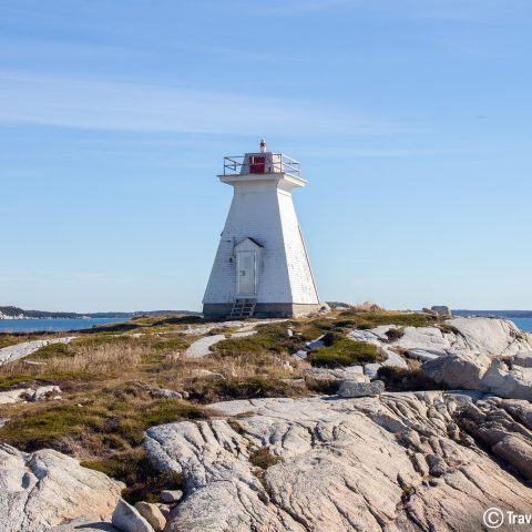The Sandy Cove Lighthouse In Halifax, Nova Scotia, Canada