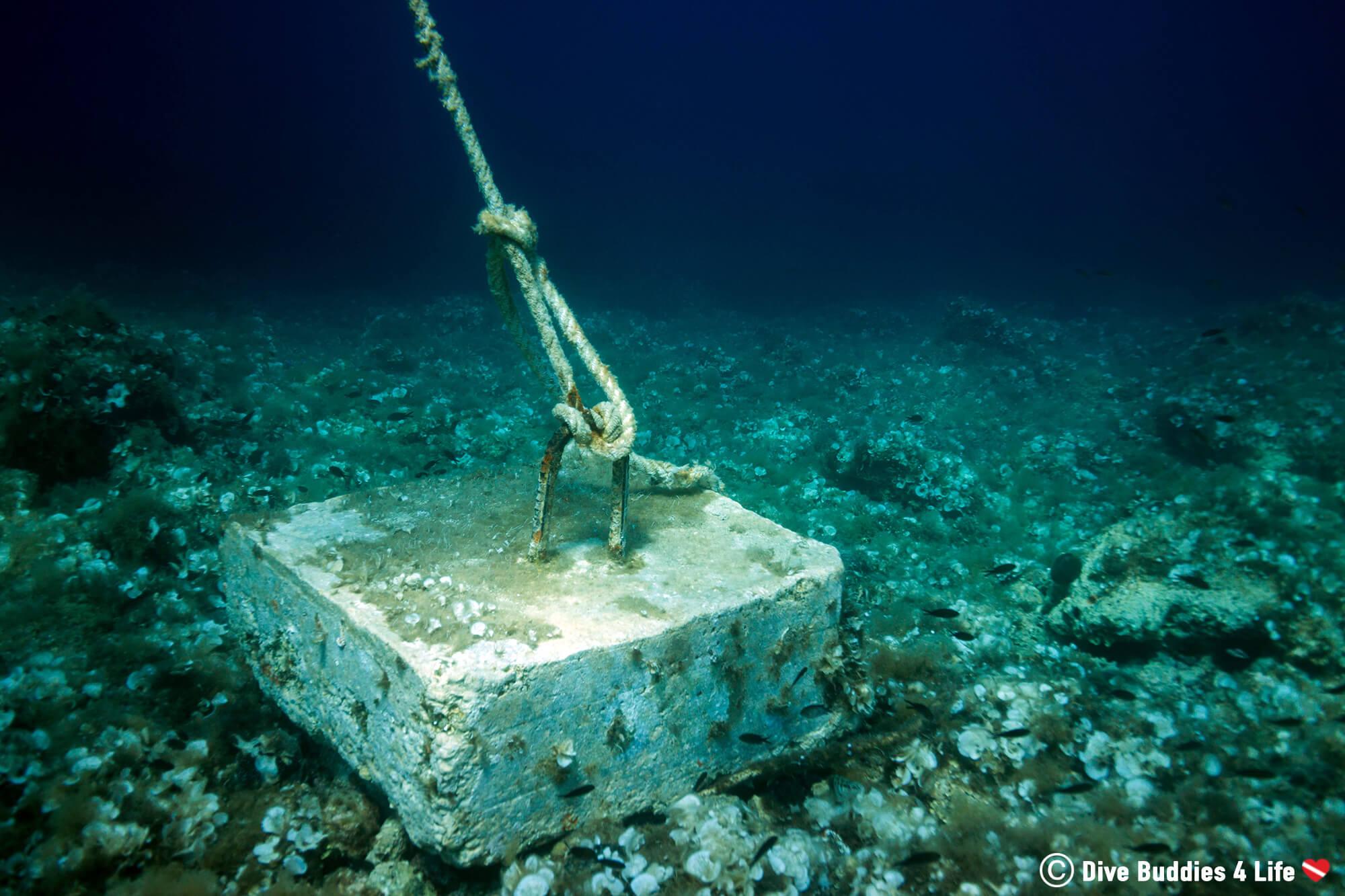 The Scuba Diving Boat Anchor In Dubrovnik, Croatia, Europe