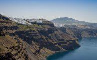 The Sharp Cliffs Of Santorini Island