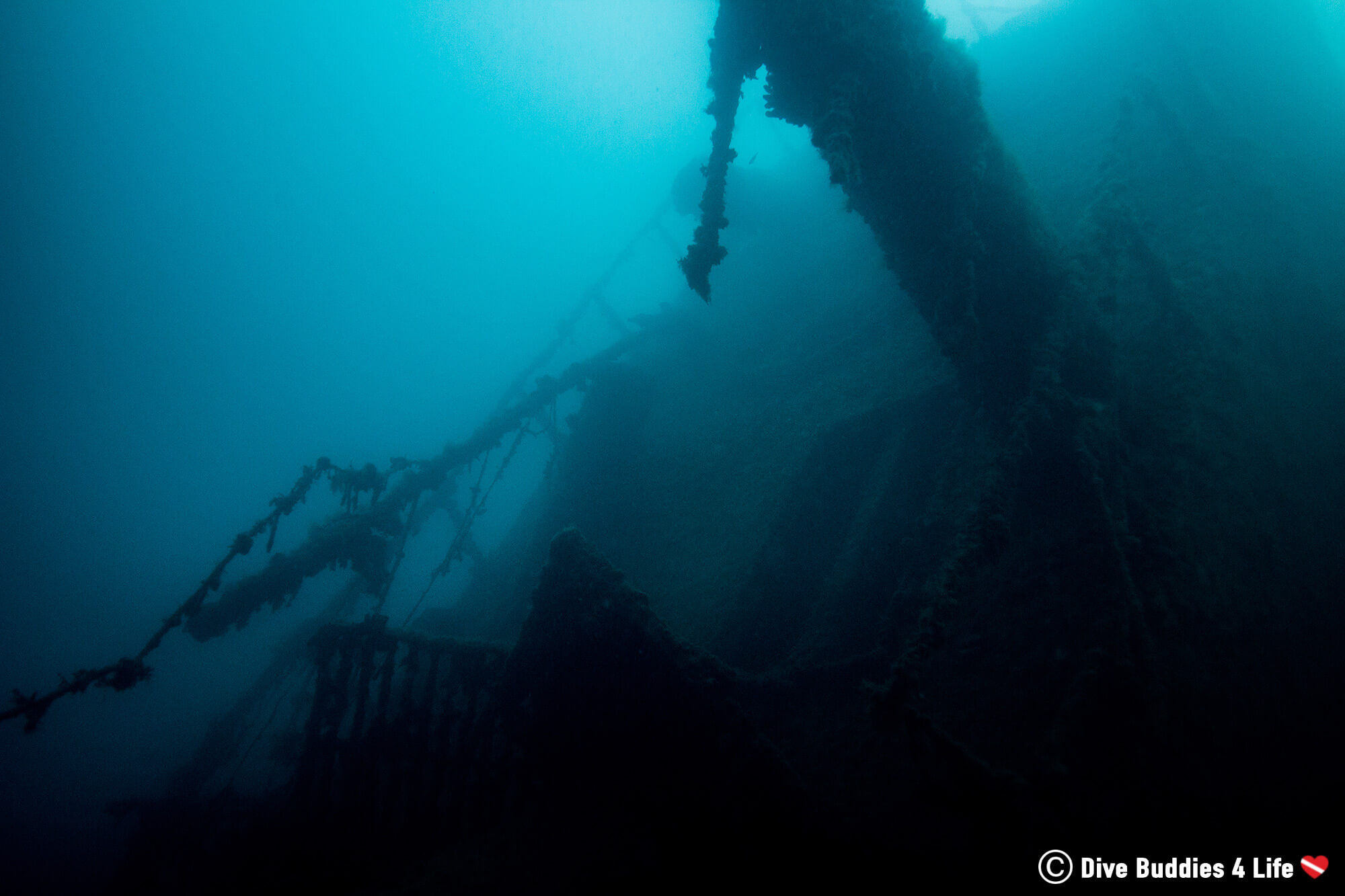 The Spooky Ghost Ship From WWII Sunk On The Bottom Of The Sea Off The Coast Of Albania In Europe's Balkan Country