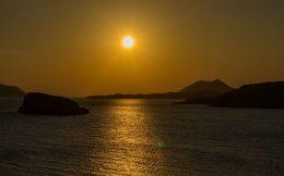 The Sunset on the Aegean Sea