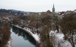 The Town Of Bern And A River