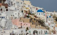 The Town Of Fira On Santorini Island, Greece