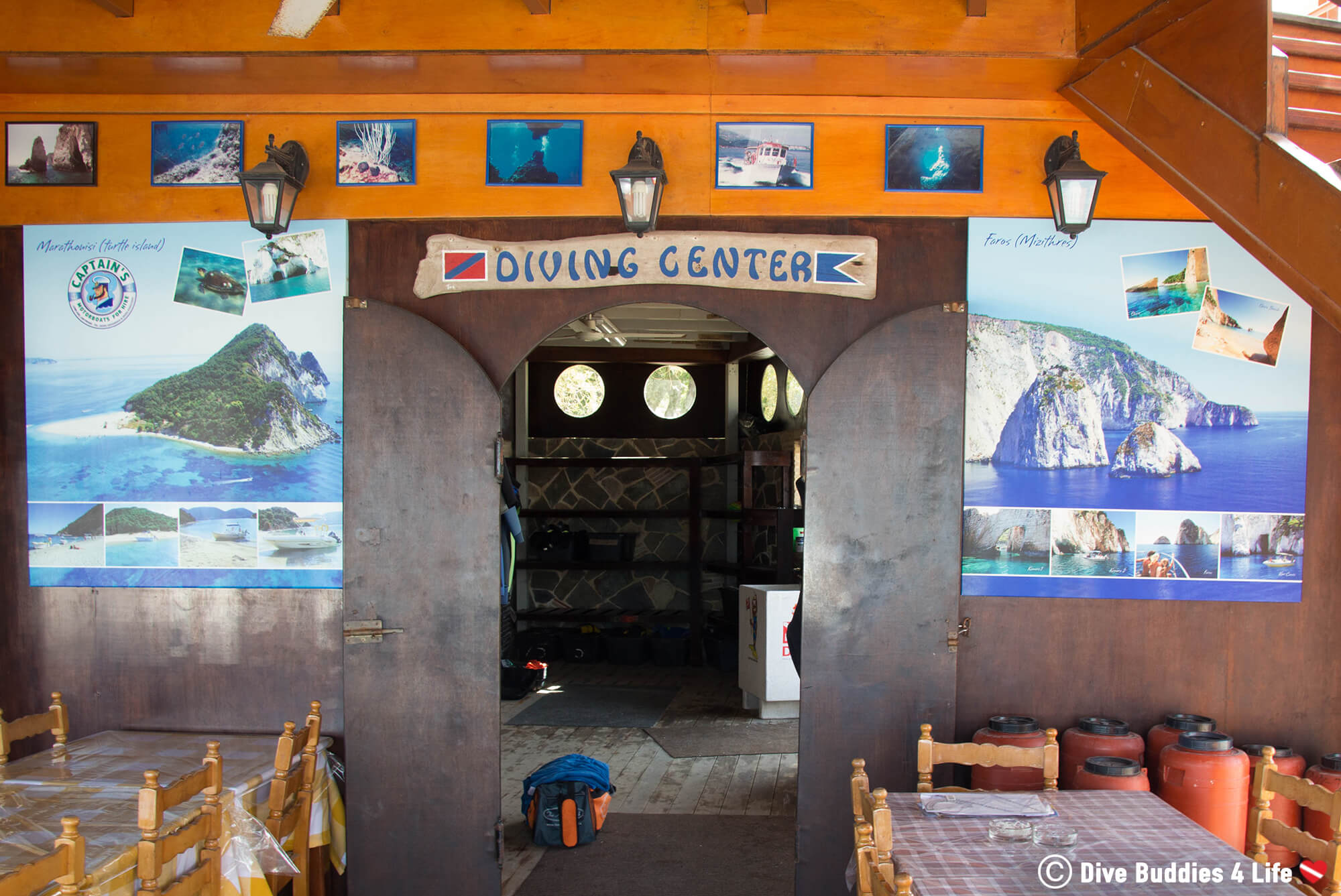 The Turtle Beach Dive Centre On Zakynthos Island, Greece