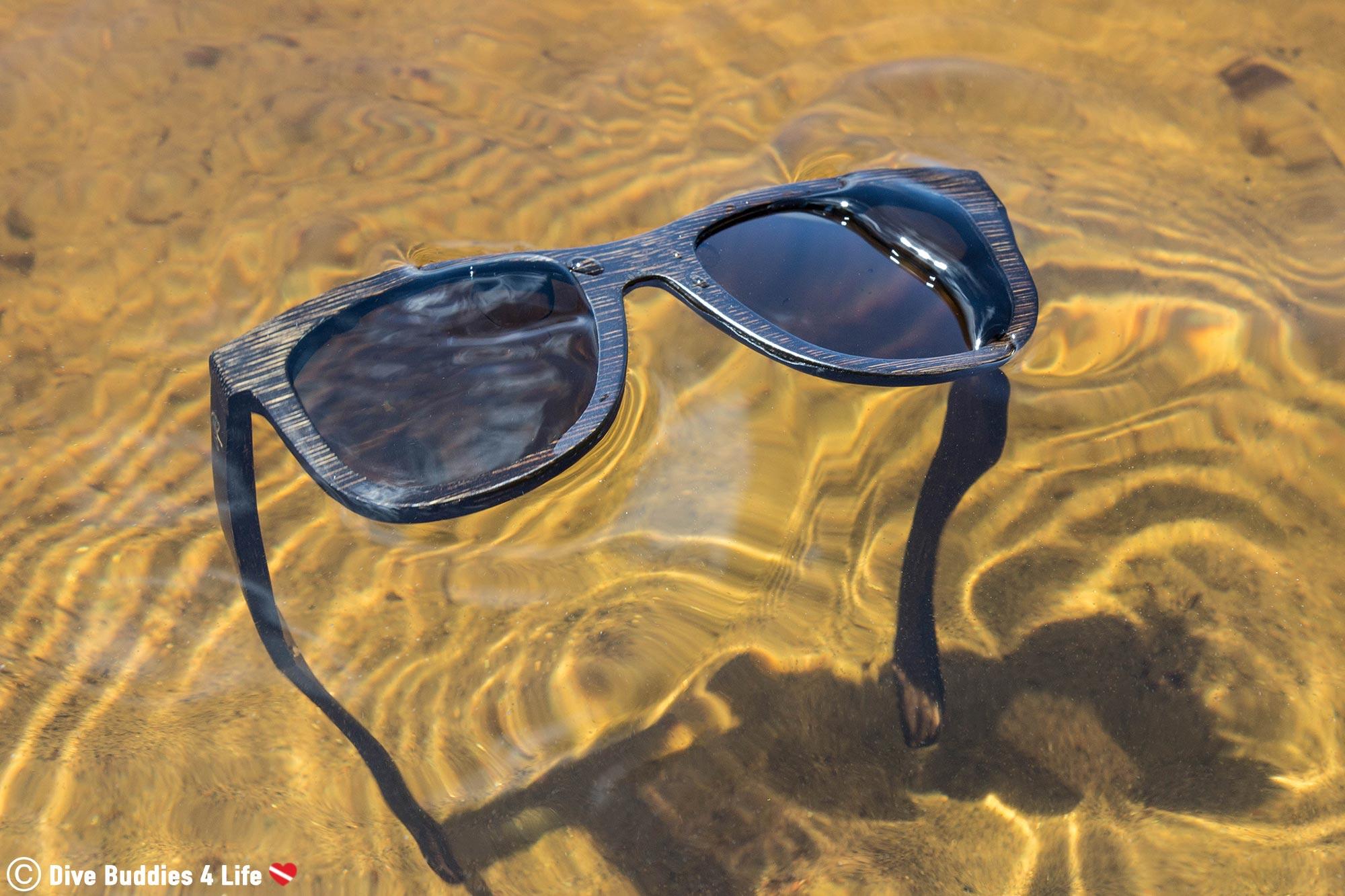 The Wildwood Original Floating Sunglasses In A Lake
