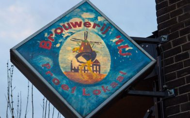 The Windmill Brewery Sign In Amsterdam