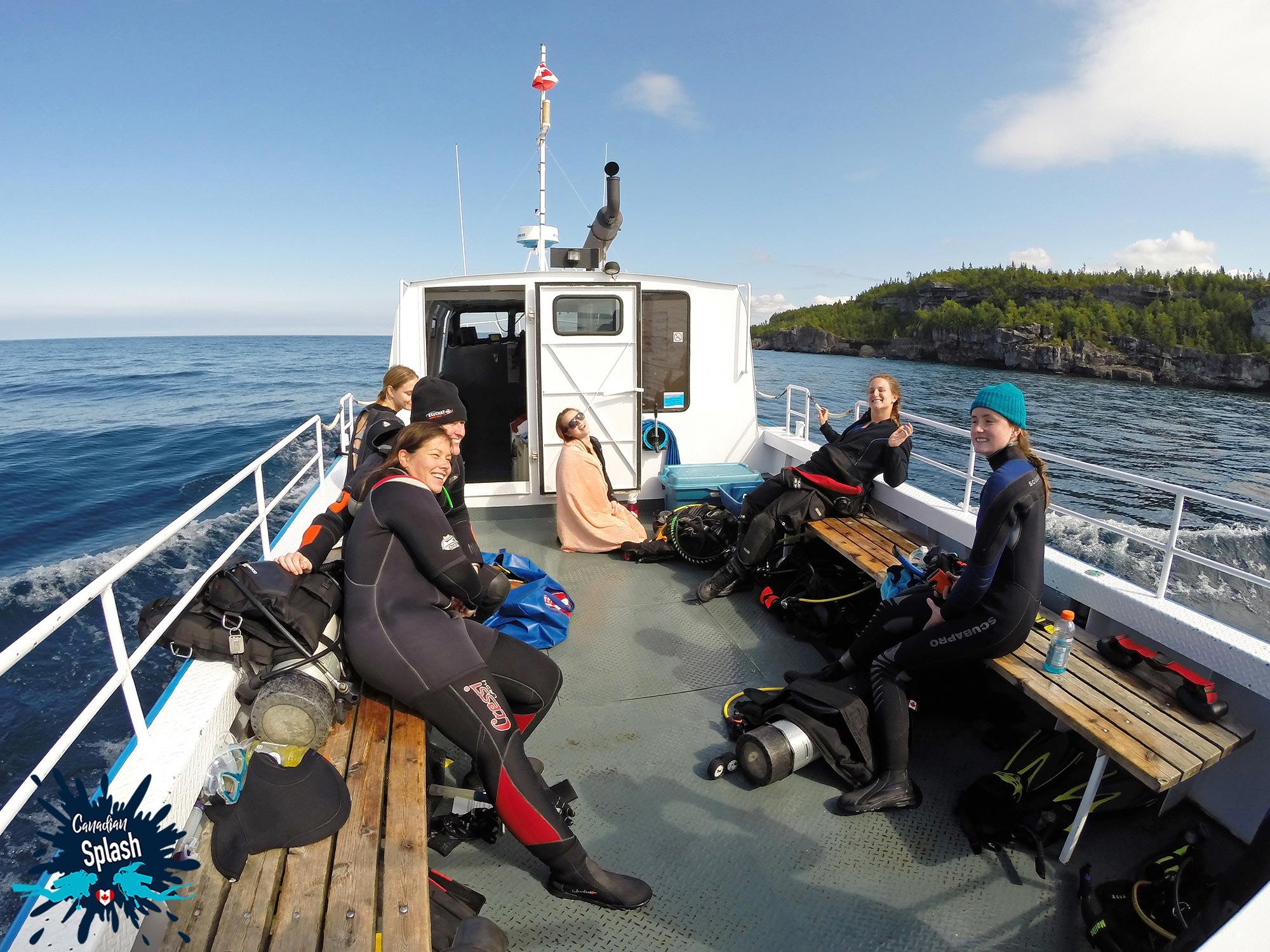 Tobermory Boat Charter To Niagara II Dive Site, Ontario Diving, Canada