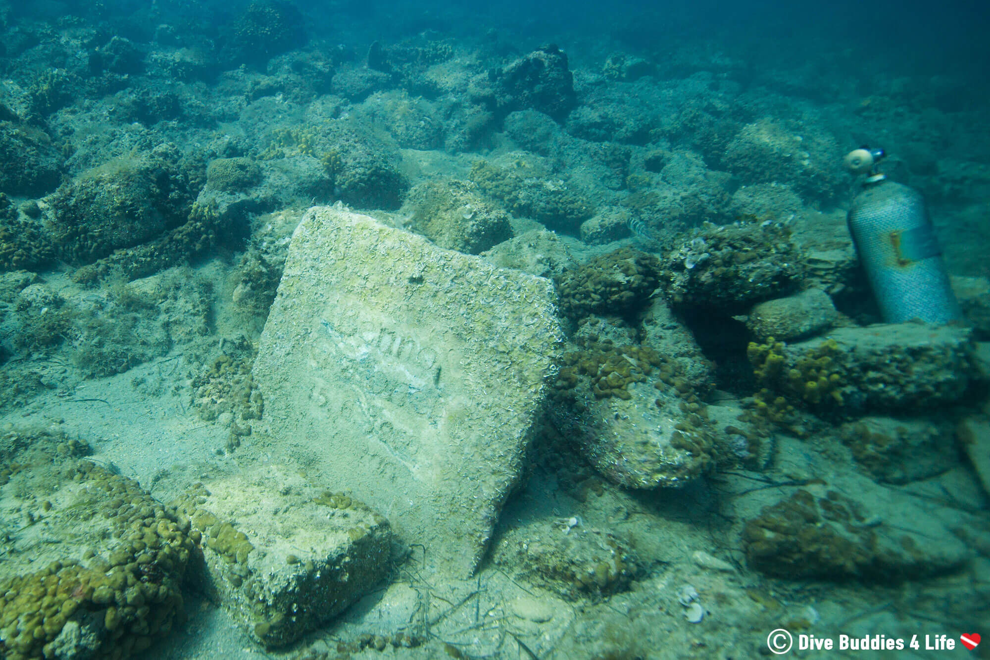 Tombstone Underwater On The Reef In Slovenia