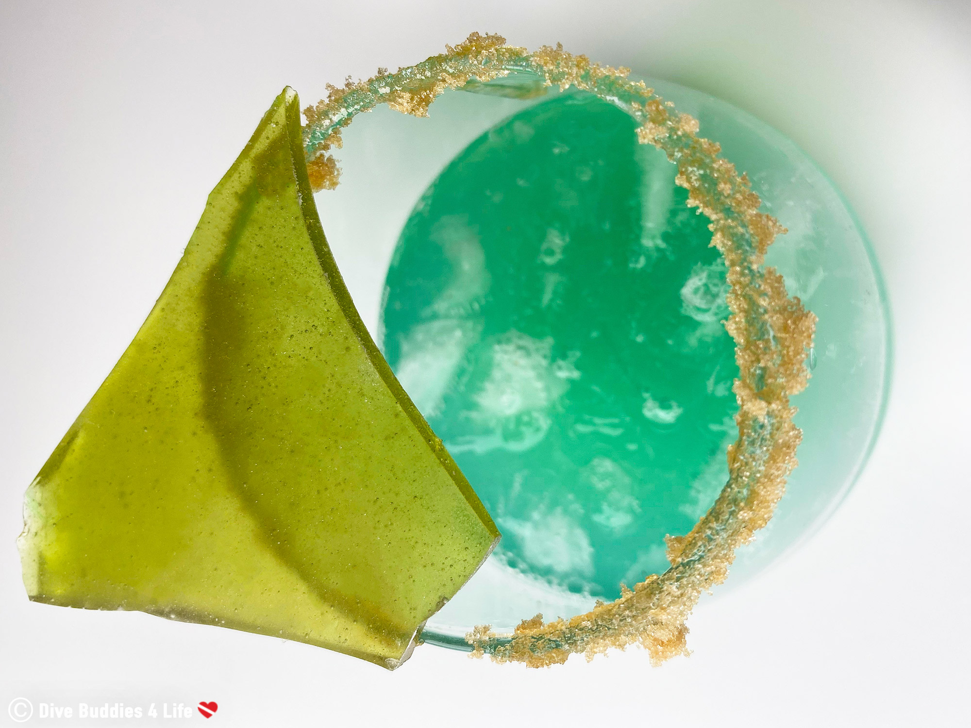 Top View Of The Sea Glass Punch Drink