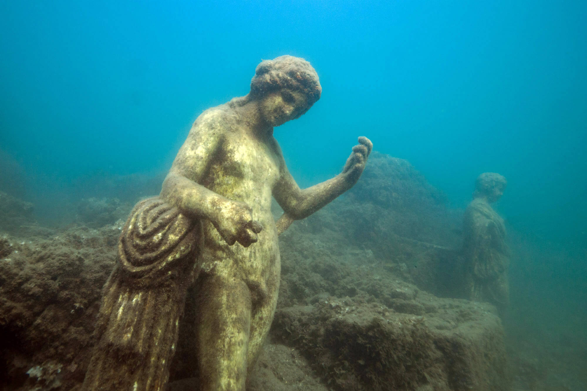 Twitter Ancient Roman Statutes Underwater At The Baiae Scuba Diving Site In Naples, Italy
