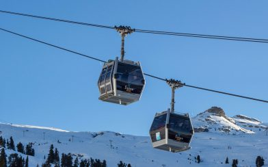 Two Gondola's In Flaine, France