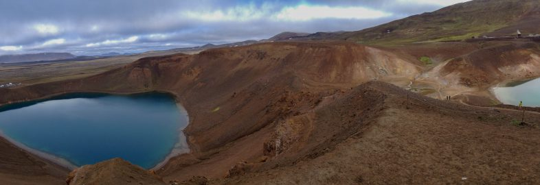 Two Lakes at Viti in Iceland
