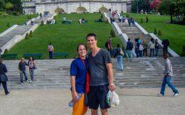 Us at the Foot of Sacre Coeur
