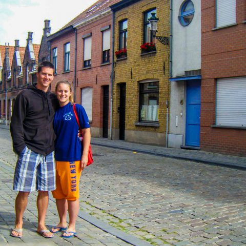 Us on the Street of Bruge