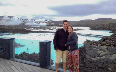 Us overlooking the Blue Lagoon