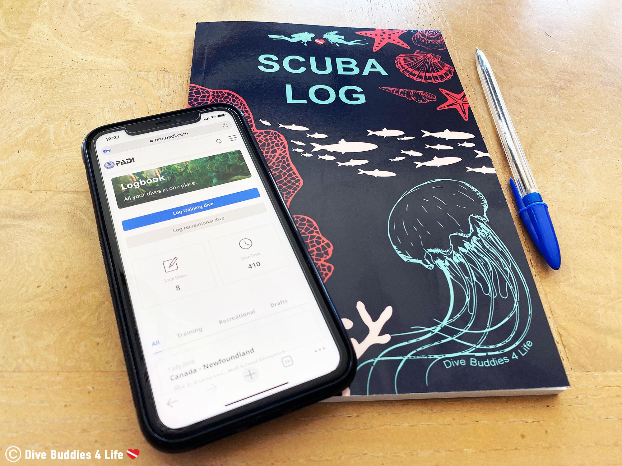 Using A Paperback Dive Log Or A Digital Dive Log