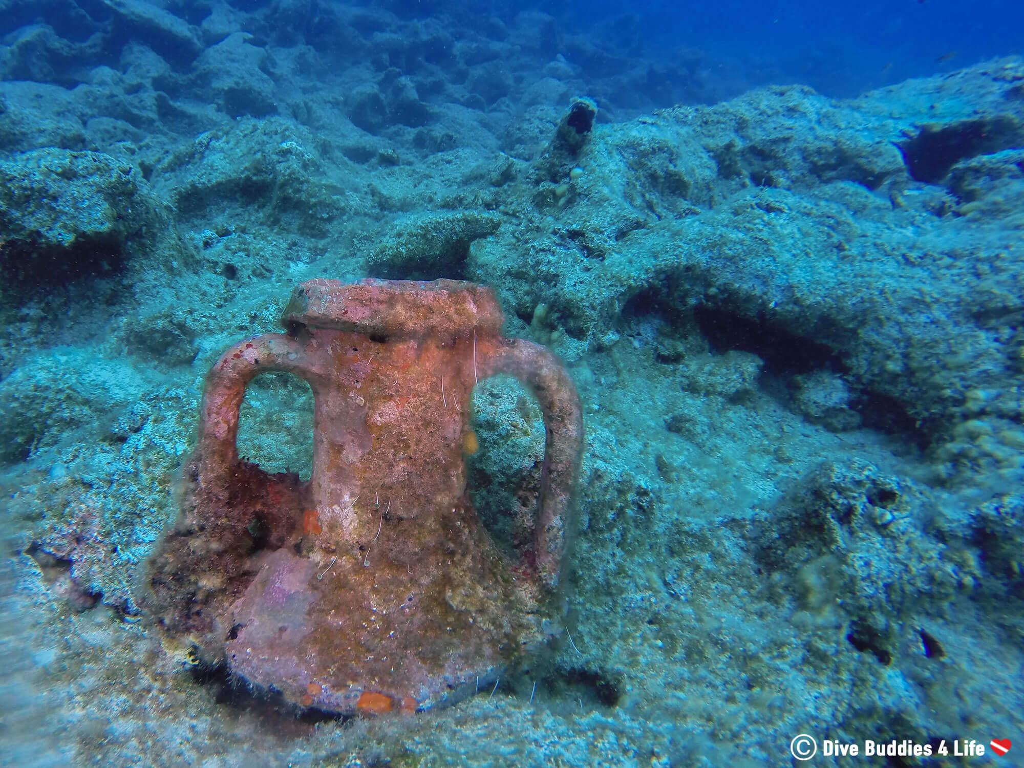 Vase Underwater In Dubrovnik Croatia