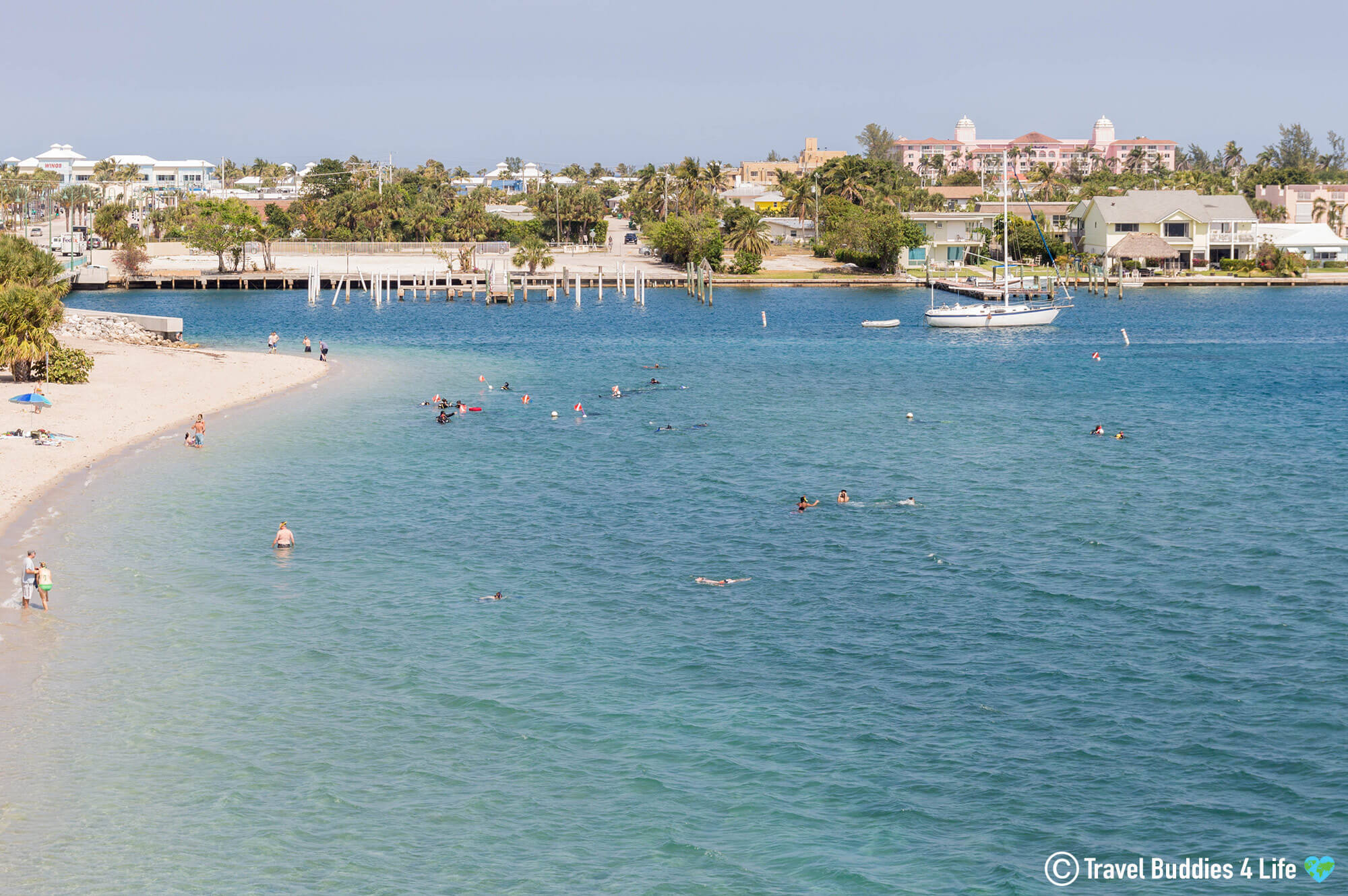 View From Blue Heron Bridge Of The Dive Site And Beach In West Palm