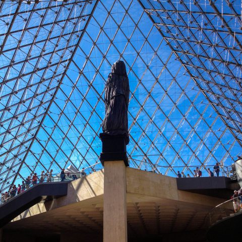 View from Inside the Louvre