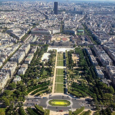 View of les Champs de Mars