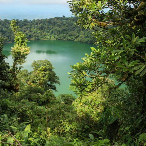 A Birds Eye View of the Chato Volcano Lake in La Fortuna