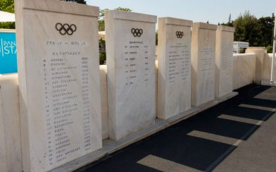 Wall with the Olympic Countries