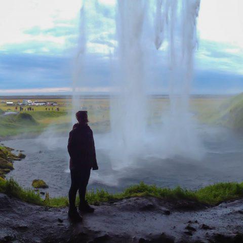 Seljalandsfoss Waterfall with Ali