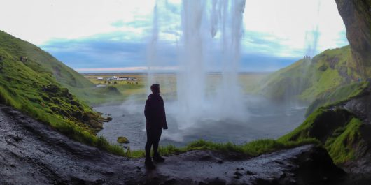 Seljalandsfoss Waterfall with Ali Traveling in Iceland, Europe