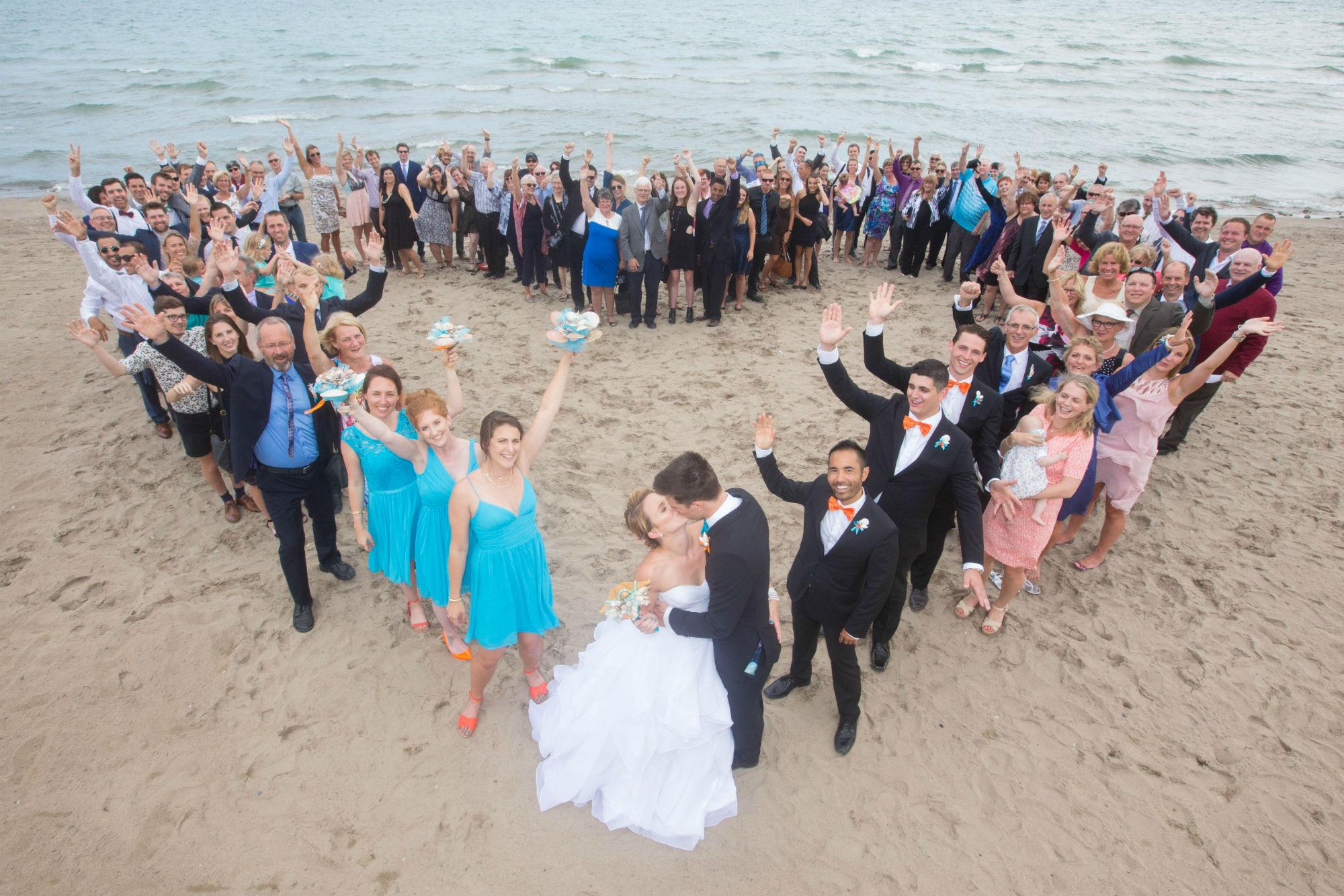 Wedding Heart On The Beach