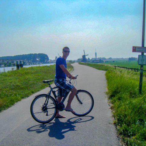 Joey Ridding a Bike