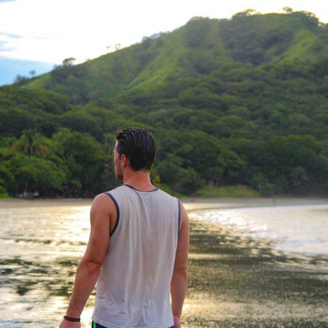 Joey walking on the Beach