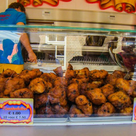 An Oliebollen Stand in the Netherlands