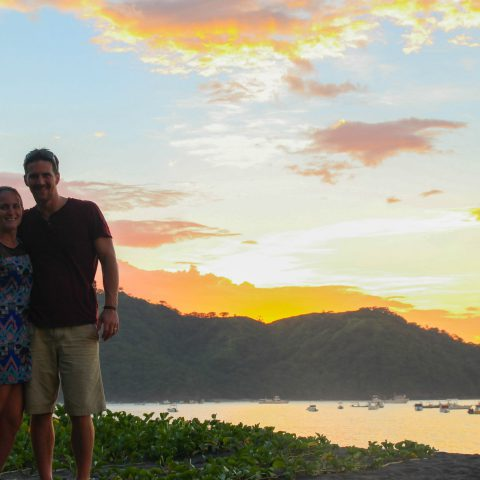 A Costa Rican Sunset on the Beach with Ali and Joey