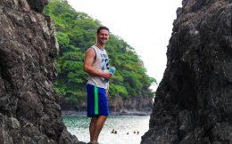 Joey Walking to the Secret Beach near Playa del Coco