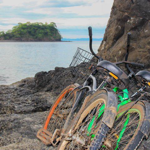 Two Bikes near the Ocean